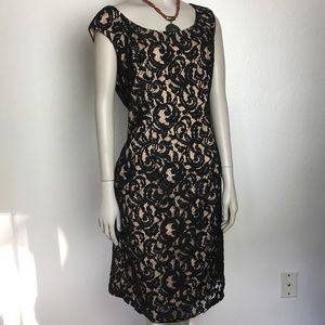 Adrianna Papell Black Lace Dress Size 12